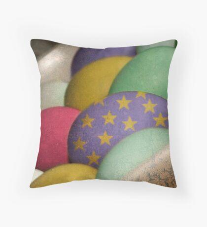 Arty Eggs Throw Pillow