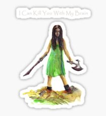 River Tam I Can Kill You With My Brain Dark Color T-shirts Grey Letters Version Sticker