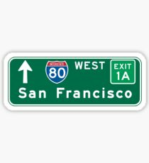 Straßenschild San Franciscos, CA, USA Sticker