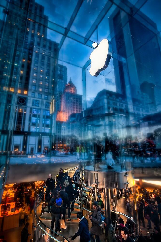 The Life below - 5th Ave Apple Store by Dan Pham