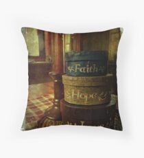 Faith, Hope, Love, the greates of these is Love Throw Pillow