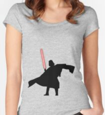 Darth Vader shadow style Women's Fitted Scoop T-Shirt