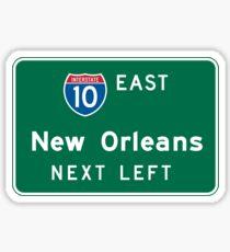 New Orleans, LA Road Sign, USA Sticker