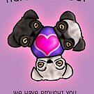 Pugs love birthdays by trossi
