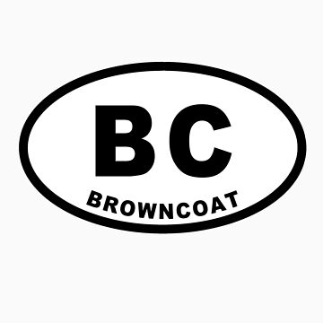 Browncoat - Euro Sticker by Earth2Kim