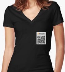 Bitcoin Accepted Here Women's Fitted V-Neck T-Shirt
