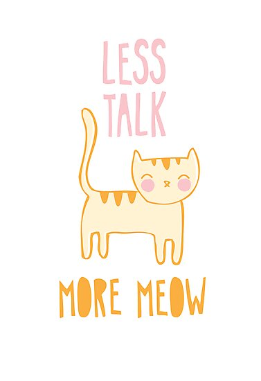 Less Talk, More Meow by thekitschycat