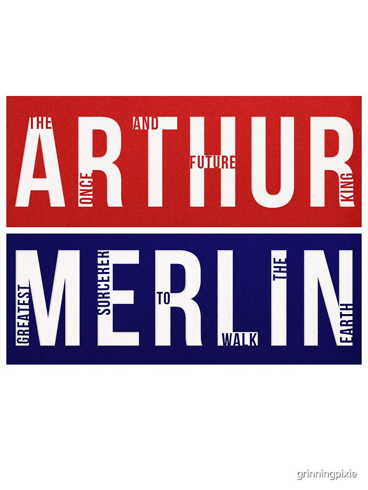 Arthur & Merlin by grinningpixie