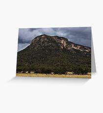 Mountains At Glen Davis Greeting Card