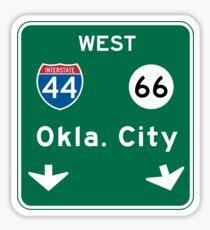 Oklahoma City, OK Road Sign, USA Sticker