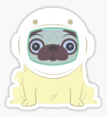 Pug in Space Sticker