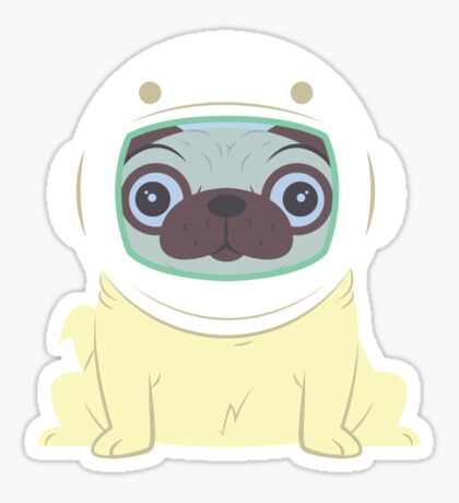 Pug in Space Sticker