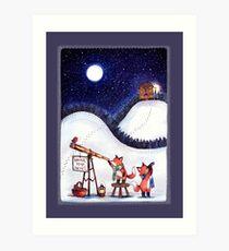 Santa Stop Here Art Print