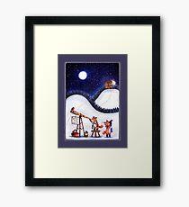 Santa Stop Here Framed Print