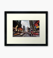 Square Cops Framed Print