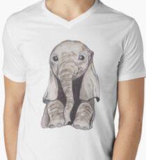 Baby Elefant T-Shirt mit V-Ausschnitt für Männer