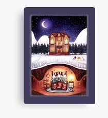 Christmas in the Burrow Canvas Print