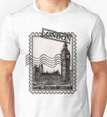 London Post Stamp Unisex T-Shirt