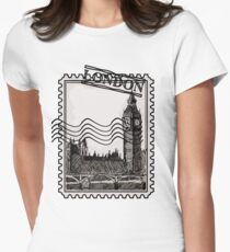 London Post Stamp Women's Fitted T-Shirt