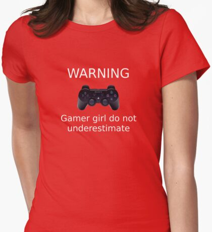Warning Gamer girl do not underestimate (white text2) T-Shirt