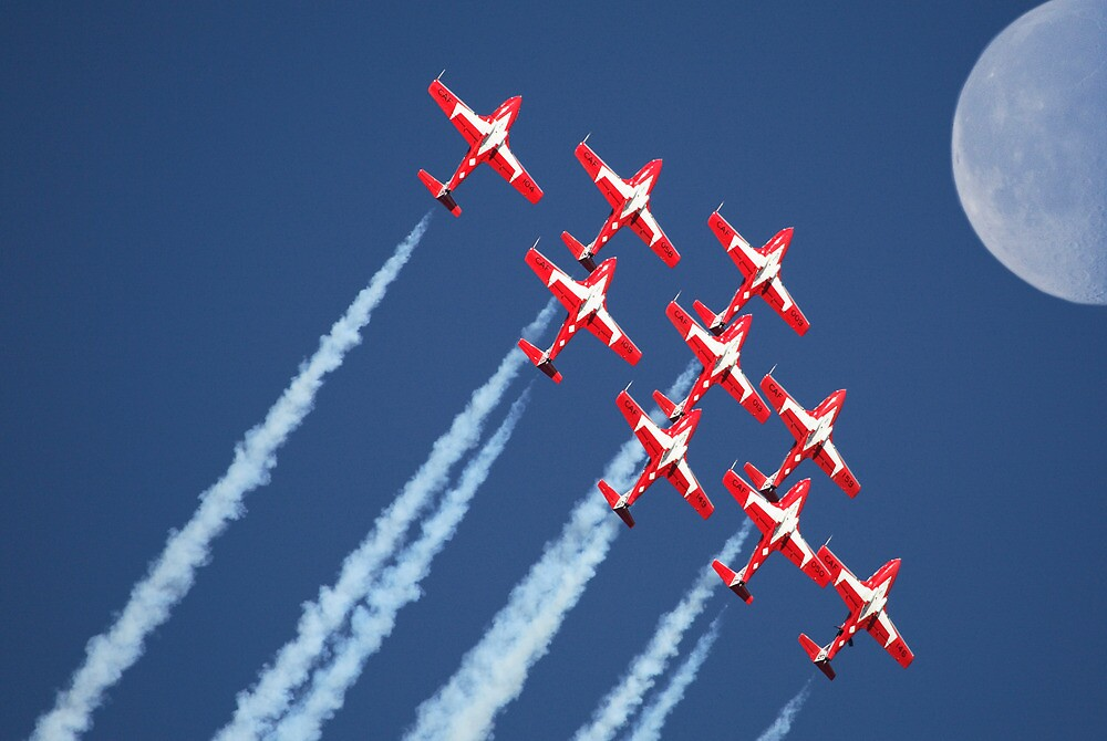 Snowbirds Aerobatics Team in flight by pictureguy