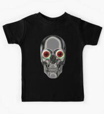 Scary Skull With Eyeballs Kids Tee