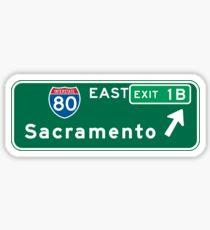 Sacramento, CA Road Sign, USA Sticker