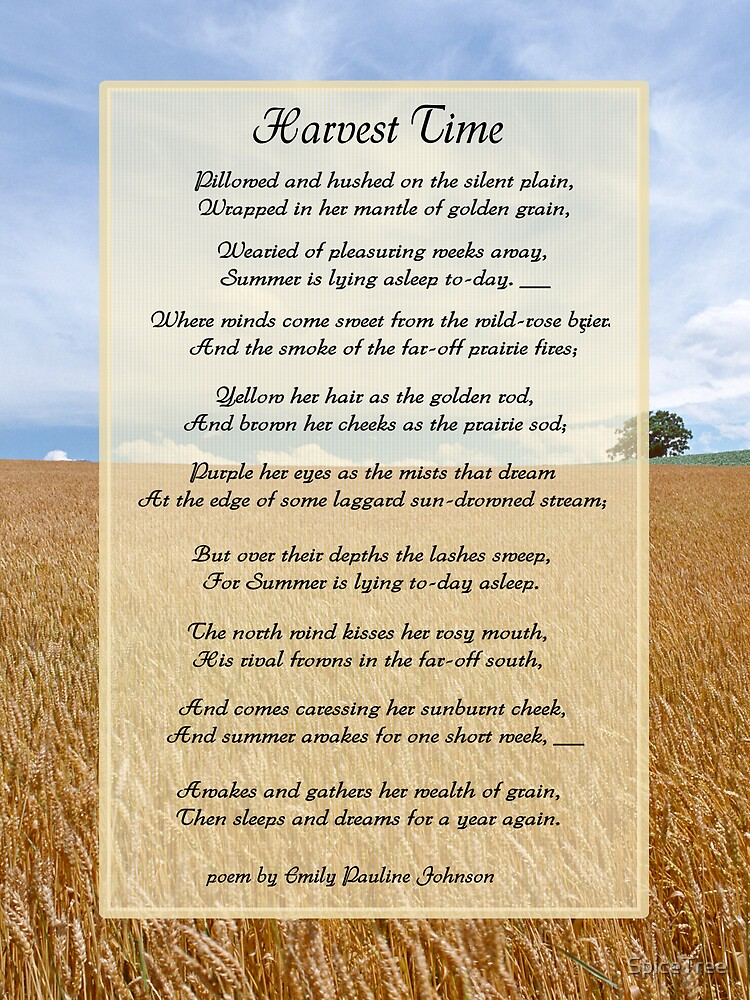 """""""Harvest Time Scene and Poem"""" by SpiceTree"""
