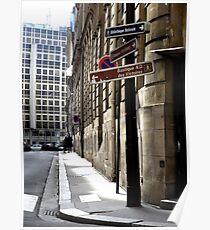 Parisian Street Sign. Poster
