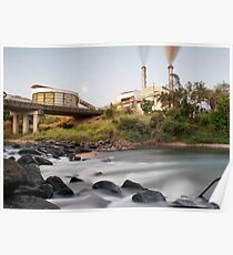 South Johnstone Sugar Mill and River - Landscape Poster