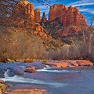 Sedona Oak Creek, Cathedral Rocks by photosbyflood