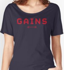 Gains. Women's Relaxed Fit T-Shirt