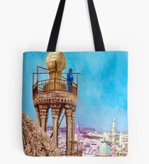 A Muezzin Calling from the Top of a Minaret the Faithful to Prayer after Jean Leon Gerome Tote Bag