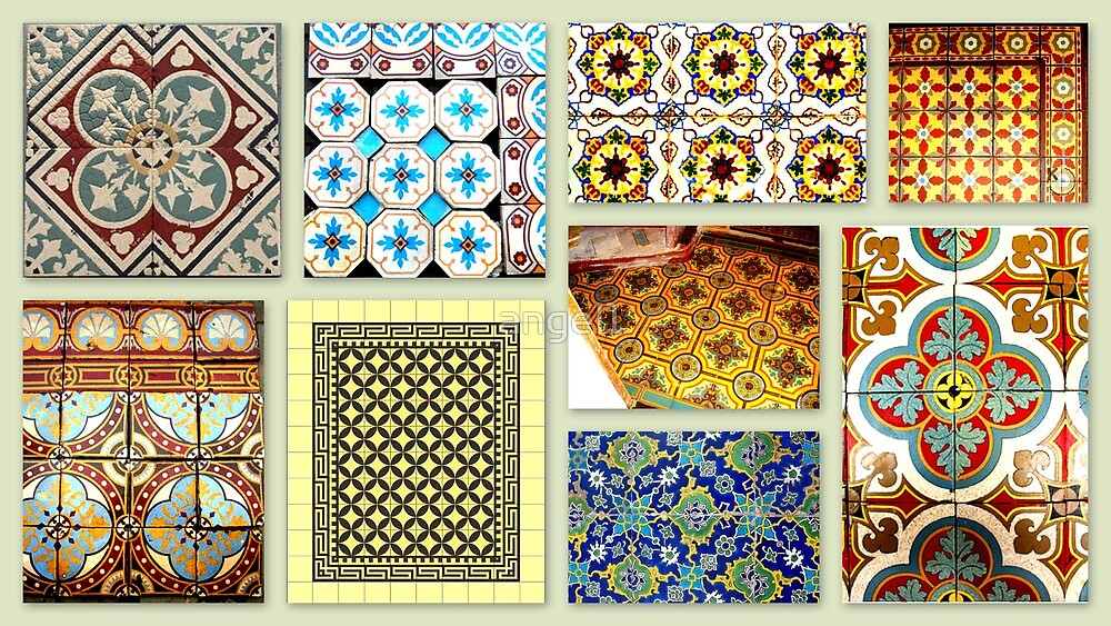 Antique tiles by ©The Creative  Minds