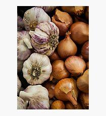 Garlic & Onions Photographic Print