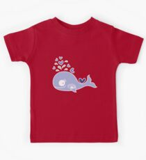 Whimsical Cute Indigo Purple Pregnant Mommy Whale Kids Tee