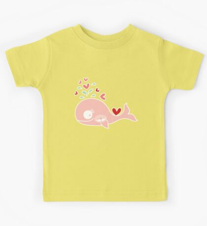 Whimsical Cute Twins Baby Pink Pregnant Mommy Whale Kids Clothes