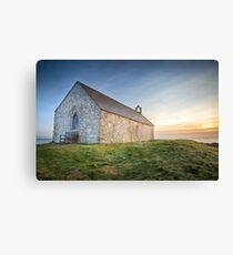 St. Cwyfan's Sunset by Smart Imaging Canvas Print