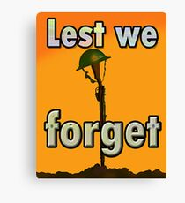 LEST WE FORGET PR> Canvas Print