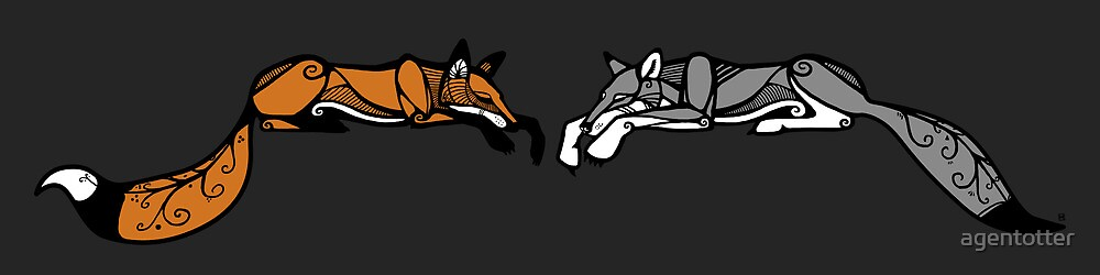 Fox & Wolf by agentotter