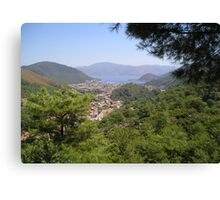 Landscape Of Icmeler Marmaris Turkey From Mountain Road Canvas Print