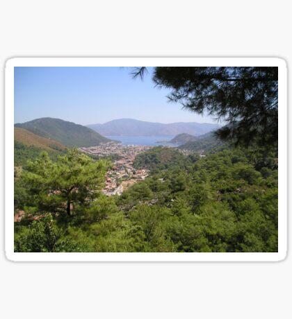 Landscape Of Icmeler Marmaris Turkey From Mountain Road Sticker