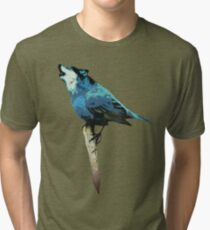 Word - Wolf-Bird Tri-blend T-Shirt