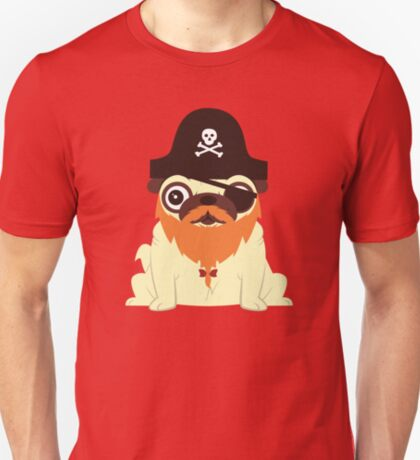 Pug in a crew T-Shirt
