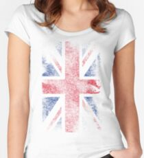 Union Jack - Flag Great Britain - Vintage Look Women's Fitted Scoop T-Shirt