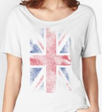 Union Jack - Flag Great Britain - Vintage Look Women's Relaxed Fit T-Shirt