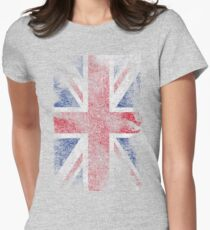 Union Jack - Flag Great Britain - Vintage Look Womens Fitted T-Shirt