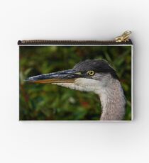 Great Blue Heron Zipper Pouch