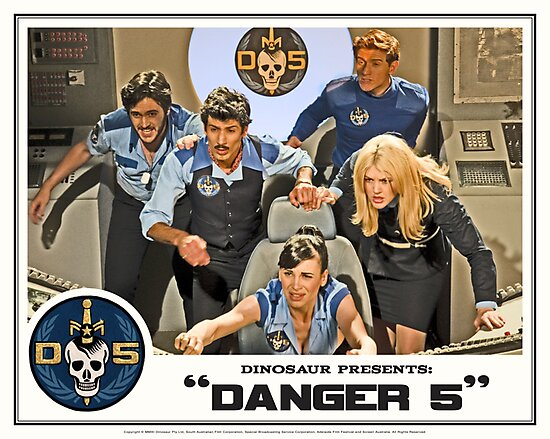"""Danger 5 Lobby Card #3 - """"In the balance"""" by Danger Store"""
