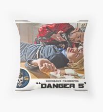 "Danger 5 Lobby Card #6 - ""You talk to much"" Throw Pillow"